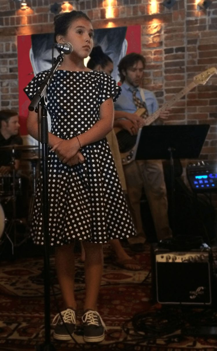 Audrey handmade cotton twirl dress