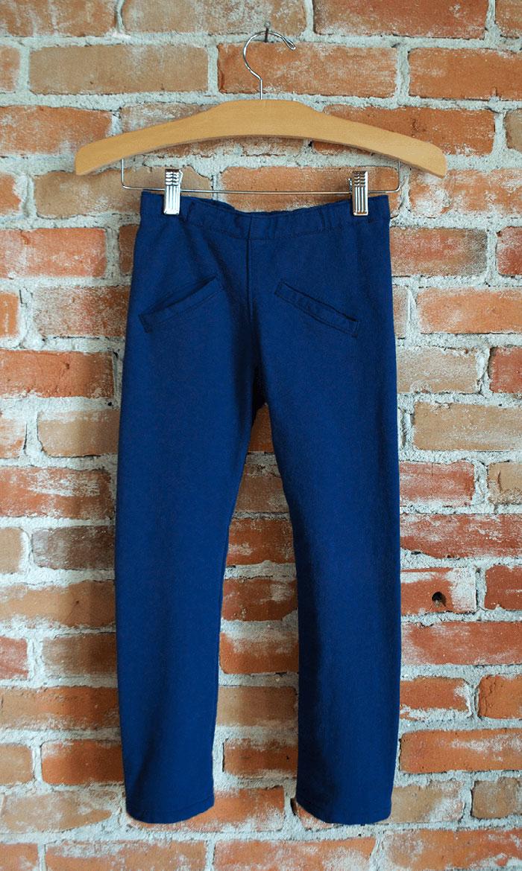Navy Beetle organic cotton skinny pant