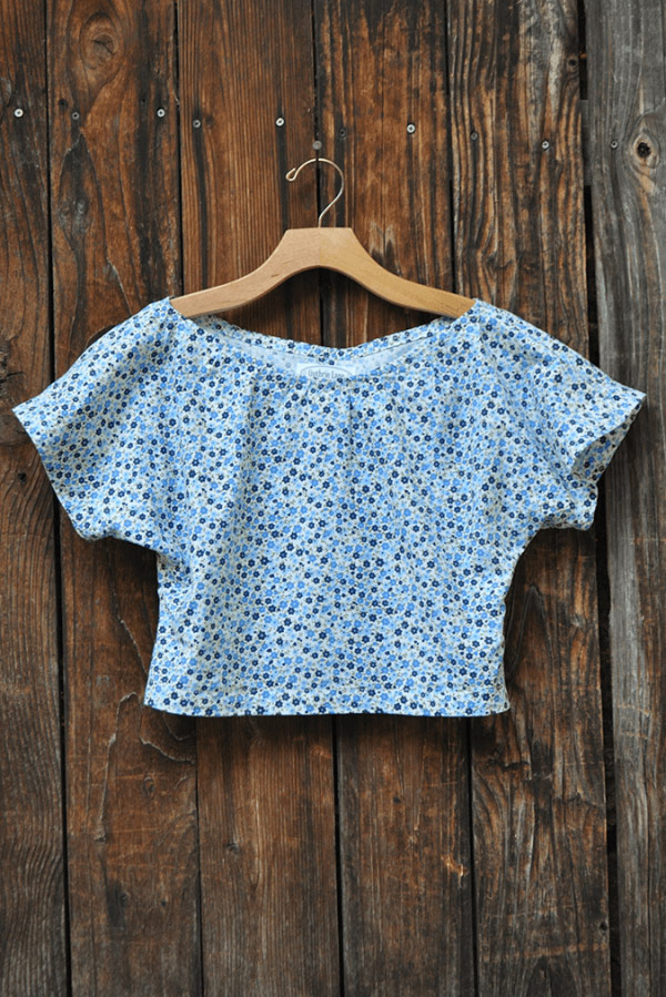 Girls floral blouse custom made clothing