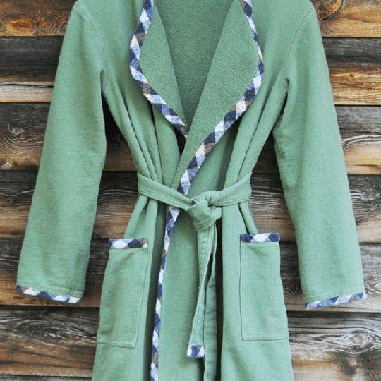 Frogpatch children's handmade cotton robe