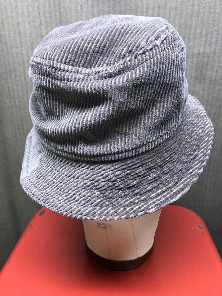 Gramps Bucket Hat in corduroy, top view
