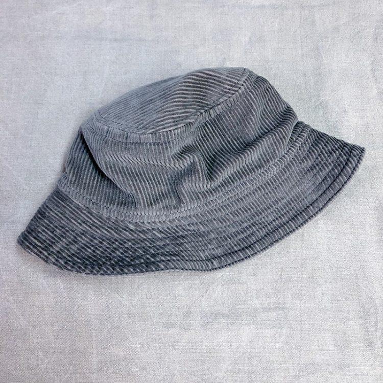 Gramps Bucket Hat in corduroy, side view